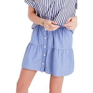 Blue and white bistro striped skirt madewell